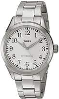 Timex Unisex Quartz Watch with Silver Dial Analogue Display and Silver Stainless Steel Bracelet TW2P99800