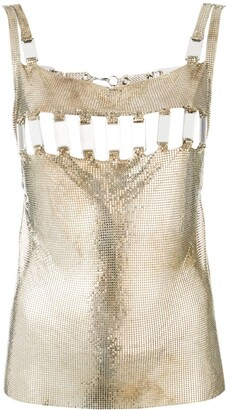 Paco Rabanne Pre Owned 1990s Disco Mirror blouse