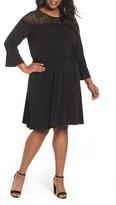 MICHAEL Michael Kors Plus Size Women's Flounce Sleeve Lace Dress
