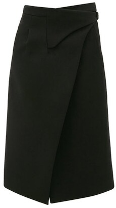 Wardrobe NYC Release 05 Wool Wrap Midi Skirt - Black