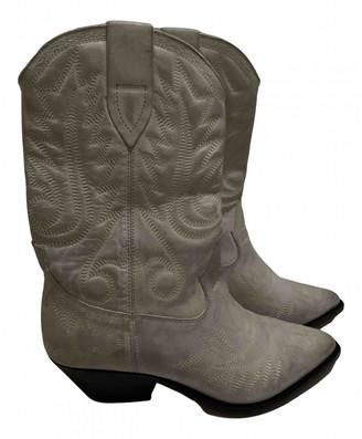 Isabel Marant Duerto White Leather Boots