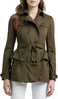 Burberry Belted Peplum Trench Jacket