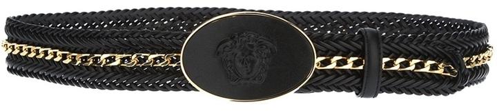 Versace chain link braided belt