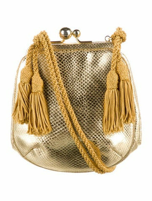 Judith Leiber Mini Kiss-Lock Bag Gold