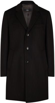 HUGO BOSS Nye black wool-blend coat