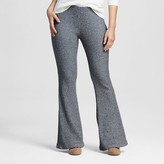 Xhilaration Women's Flare Leggings Black/Cream