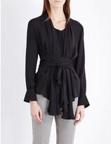 Etro Draped silk-chiffon shirt