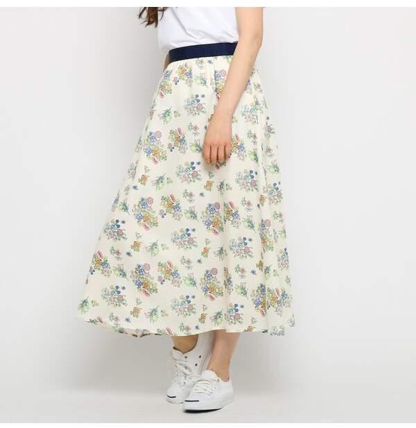 Dessin (デッサン) - デッサン 【洗える】ブーケプリントスカート