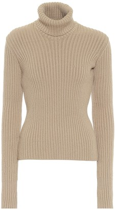 Bottega Veneta Ribbed-knit wool-blend turtleneck sweater