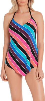 Magicsuit Gayle Striped Halter Tankini Top