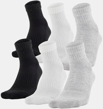Under Armour Unisex UA Training Cotton Quarter 6-Pack Socks