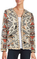 Glamorous Embroidered Open-Front Jacket