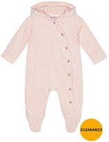 Ted Baker Baby Girls Spotted Velour Snugglesuit