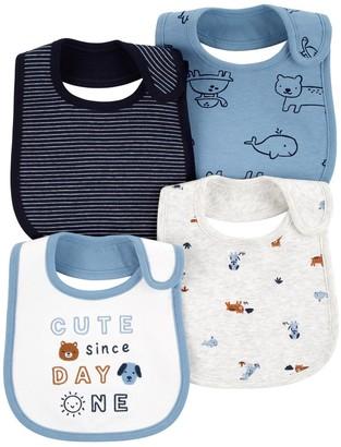 Carter's Baby Boy 4-Pack Animal Teething Bibs