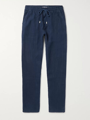Vilebrequin Pacha Linen Drawstring Trousers - Men - Blue