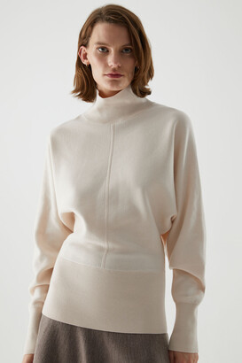 Cos Cotton-Merino Wool Mix Roll-Neck Jumper