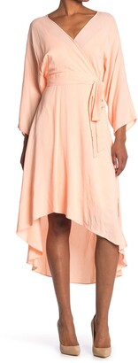 Diane von Furstenberg Eloise High/Low Hem Wrap Dress