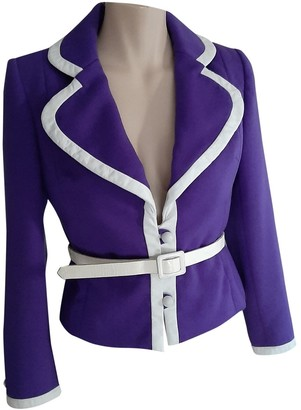 Jean Patou Purple Wool Jacket for Women Vintage