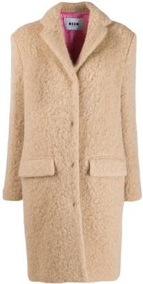 MSGM Oversized Teddy Coat
