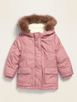 Old Navy Water-Resistant Faux-Fur-Trim Hooded Parka for Toddler Girls