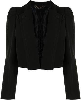 Gucci Pre-Owned Buttoned Lapels Cropped Blazer
