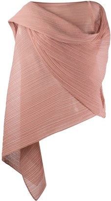 Pleats Please Issey Miyake Micro-Pleated Wrap Tunic