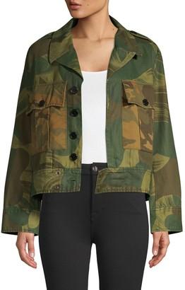 Zadig & Voltaire Kaleno Camo-Print Military Jacket