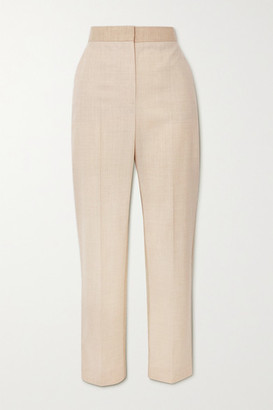 Roksanda Colwyn Wool-blend Twill Straight-leg Pants - Beige