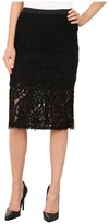 B Collection by Bobeau - Lace Fringe Pencil Skirt Women's Skirt