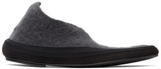 The Row Grey Cashmere Fairy Loafers