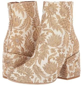 Free People Brocade Nicola Heel Boot (Ivory) Women's Boots