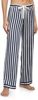 Morgan Lane Chantal Striped Silk-Blend Pajama Pants