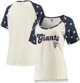New Era Women's Cream/Navy San Francisco Giants Baby Jersey Star Raglan T-Shirt