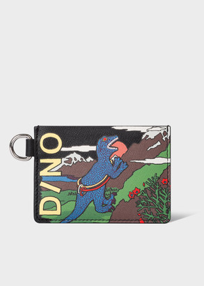 Paul Smith Men's 'Climbing Dino' Leather Credit Card Holder