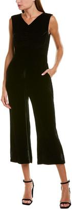 Rebecca Taylor Ruched Velvet Silk-Blend Jumpsuit