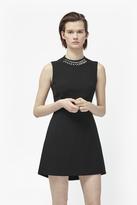 Sundae Suiting Embellished Collar Dress