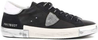 Philippe Model Black Leather Sneaker
