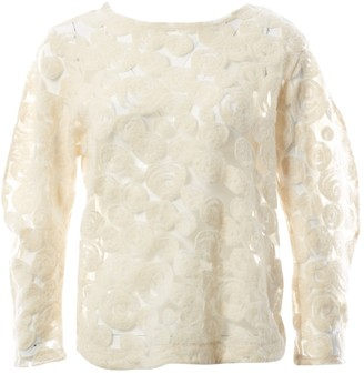 Tsumori Chisato Ecru Wool Top for Women