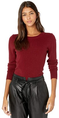 J.Crew Cashmere Crew Neck Sweater (Heather Coal Grey) Women's Sweater