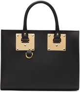 Sophie Hulme Black Medium Albion Box Tote