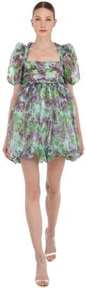 VIVETTA Floral Print Organza Mini Dress