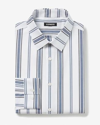 Express Slim Striped Cotton Stretch Dress Shirt
