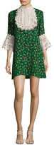 Anna Sui Lace Bib Shirt Dress