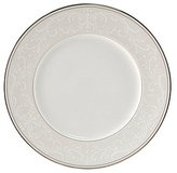Nikko Pearl Symphony Scroll Bone China Dinner Plate