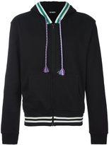 Raf Simons stripe trim zipped hoodie