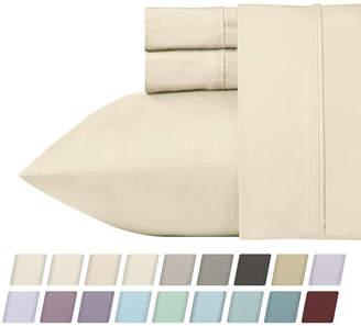 California Design Den 700 Thread Count Cvc 4-Piece Rich Sateen Sheet Set, Queen Bedding
