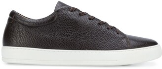 Eleventy Leather Low-Top Sneakers