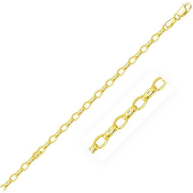 Ice Polished 14K Yellow Gold Link Bracelet
