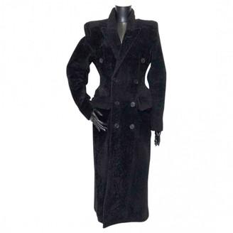 Balenciaga Black Fur Coat for Women
