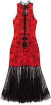 Jonathan Simkhai Two-tone Guipure Lace Dress - Red
